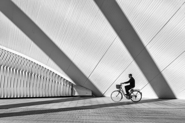 Bicycle and shadows by Sophia Spurgin